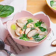 虾仁香菇疙瘩汤