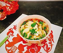 #新年开运菜,好事自然来#团年酸汤水饺的做法