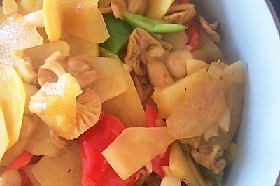 黄蘑土豆片