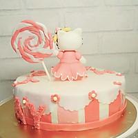 Kitty翻糖蛋糕(二)的做法图解12