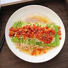 剁椒丝瓜蒸金针菇