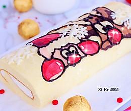 圣诞彩绘蛋糕卷的做法