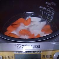 山药胡萝卜粥的做法图解3