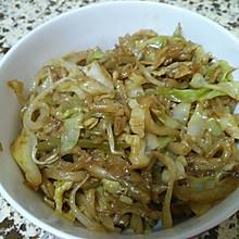 圆白菜炒饼丝