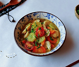胡胡香茄鱼丸汤的做法