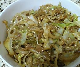 圆白菜炒饼丝的做法