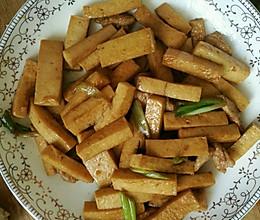 葱炒孜然千夜豆腐的做法