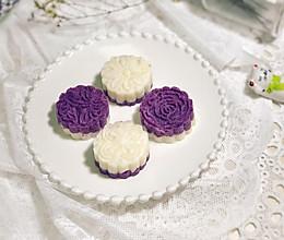 #快手又营养,我家的冬日必备菜品#低脂低糖--紫薯山药蜂蜜糕的做法