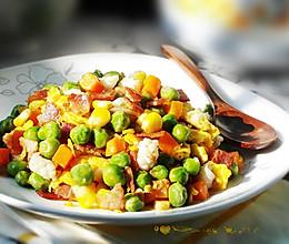 豌豆炒蛋的做法