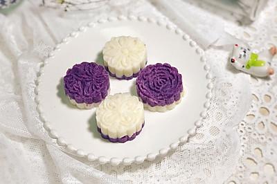 #快手又营养,我家的冬日必备菜品#低脂低糖--紫薯山药蜂蜜糕