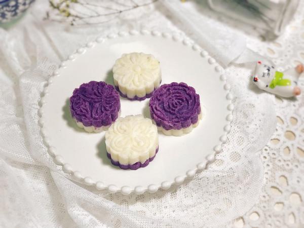 低脂低糖--紫薯山药蜂蜜糕的做法