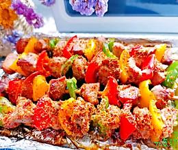 #全电厨王料理挑战赛热力开战!#香辣馋嘴~彩椒鸡肉串的做法