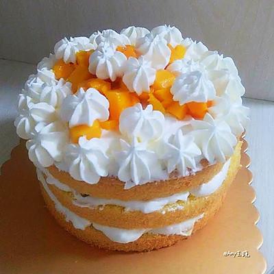 """""""落花""""裸蛋糕(8寸)"""