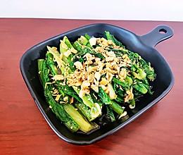 五分钟做好的蒜香虾皮油麦菜的做法