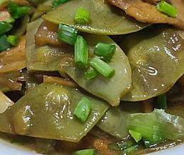 红扁豆烧前上肉(家常菜)的做法