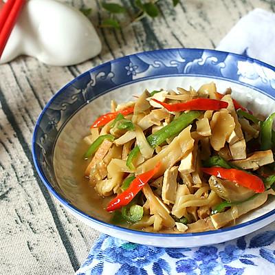 青椒榨菜炒豆干