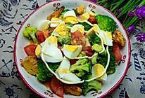 西兰花鸡蛋沙拉的做法