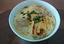 豆腐肉饼蒸鸡蛋的做法
