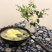 蛋饺菠菜粉丝汤~冬日暖汤