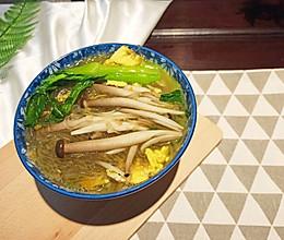 青菜鸡蛋粉丝汤的做法
