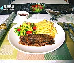 圣诞季:黑椒牛排套餐的做法