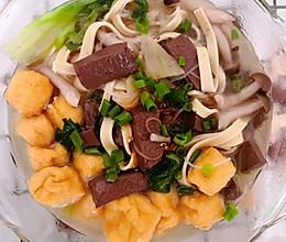 家庭版简易鸭血粉丝汤的做法