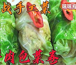 #肉食主义狂欢# 鲜肉包菜卷的做法