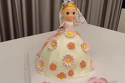 手残党也可以做的娃娃蛋糕