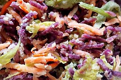 彩色拌面菜 蒸菜