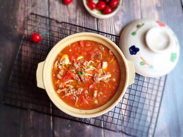 番茄金针菇肥牛卷