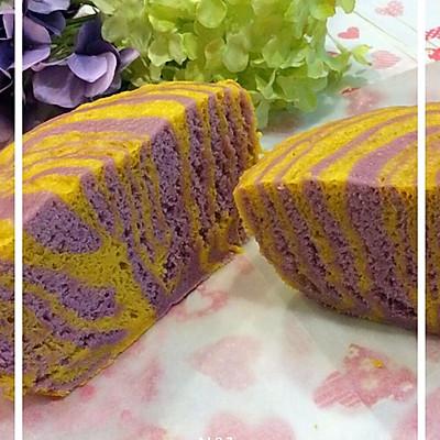 健康朝食--南瓜紫薯发糕
