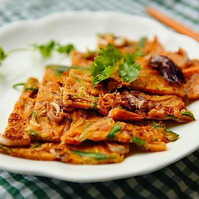 韩式辣酱海鲜饼