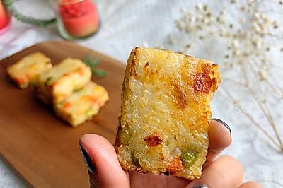 教你小妙招,多一步外脆内软,奶酪饭团孩子一口气吃了好几块