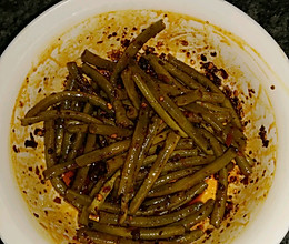 麻辣泡豇豆(蒜苔)的做法