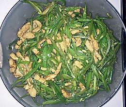 扁豆丝炒肉丝的做法
