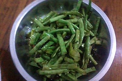 绍兴霉干菜炒豇豆