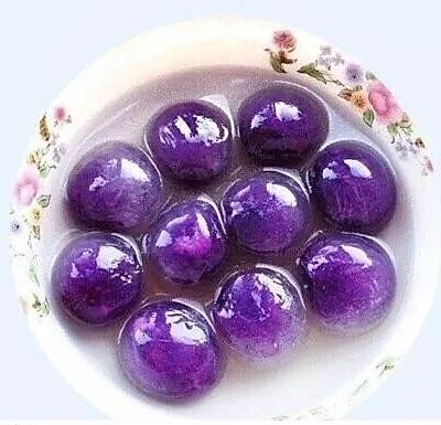 紫薯水晶汤圆