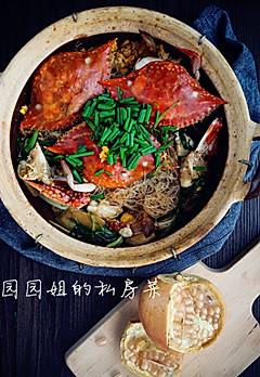 姜葱粉丝牛油焗蟹