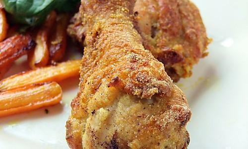 不用一滴油的-- 烤箱版炸鸡 的做法