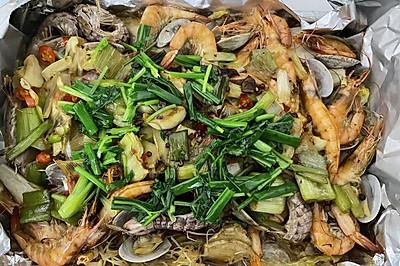 粉丝遇上蒜蓉烤虾(烤箱自制2-3人食)