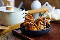 大葱肉片烧闸蟹的做法