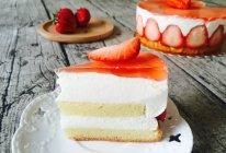 草莓酸奶慕斯蛋糕媲美冻芝士#豆果5周年#的做法