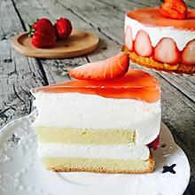 草莓酸奶慕斯蛋糕媲美冻芝士#豆果5周年#