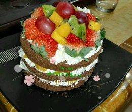 水果裸蛋糕(6寸)的做法