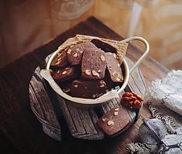 焦糖核桃可可饼干的做法