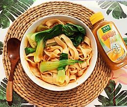 酸汤面+太太乐鲜鸡汁蒸鸡原汤的做法