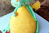 翻糖蛋糕--财神小恐龙的做法