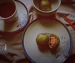 网红【肉松蛋黄青果】的做法