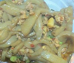 魔芋豆腐炒肉泥的做法