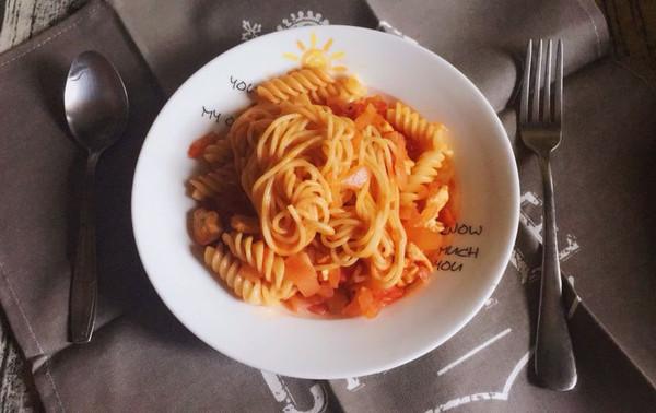 减脂健身餐系列-番茄肉酱意面的做法
